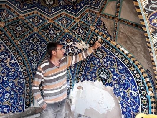 اجرای 3 پروژه مرمت کاشی کاری در مجموعه جهانی شیخ صفی الدین اردبیلی