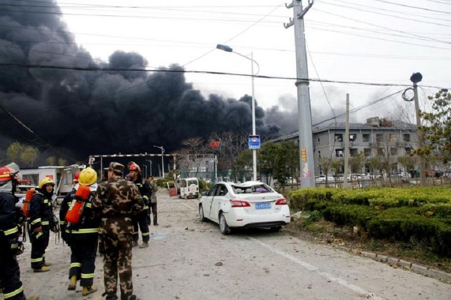 قربانیان انفجار کارخانه ای درچین به 47 کشته رسید