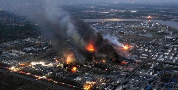 انفجار در کارخانه شیمیایی چین با 47 کشته و صدها مجروح