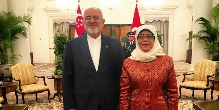 تأکید رئیس جمهور سنگاپور بر گسترش مناسبات با ایران در همه زمینه ها
