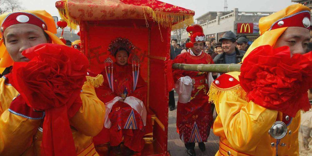 رسم باستانی ازدواج در چین