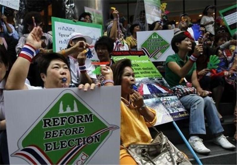 برگزاری انتخابات در تایلند در میان موجی از ناآرامی ها