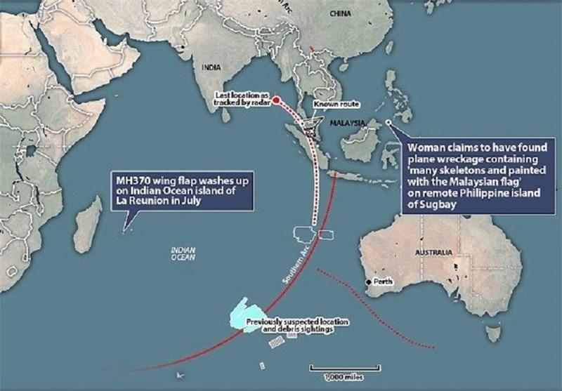 حدس ها درباره اجساد و بقایای هواپیمای گمشده مالزی در فیلیپین