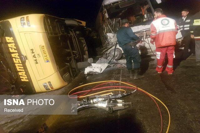 هیچ مصدوم فوتی ناشی از واژگونی اتوبوس اردبیل به تهران نداشتیم
