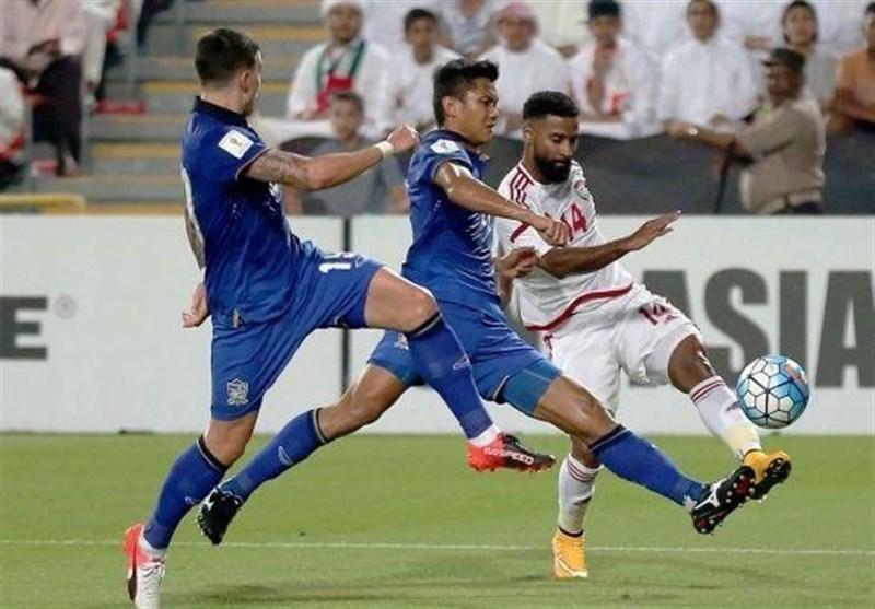 فرار امارات از شکست مقابل تایلند در ثانیه پایانی بازی