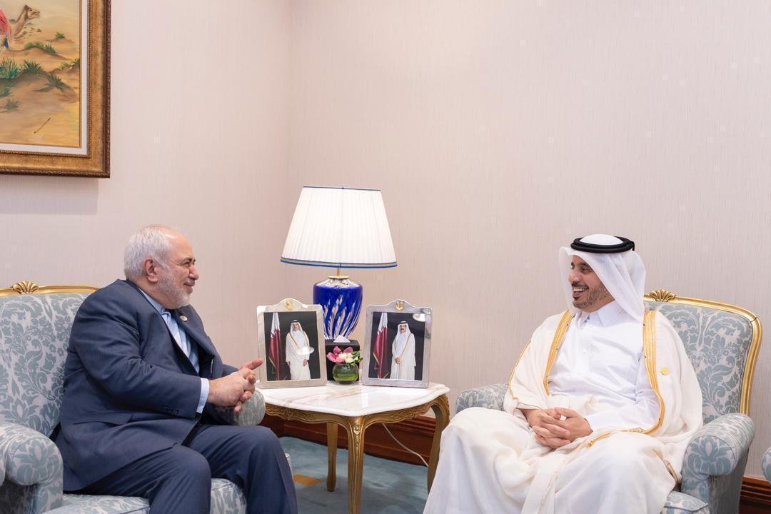 رایزنی وزیر کشور قطر با ظریف