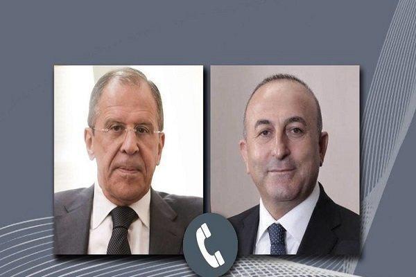 گفتگوی تلفنی وزرای خارجه روسیه و ترکیه درباره تحولات لیبی و سوریه