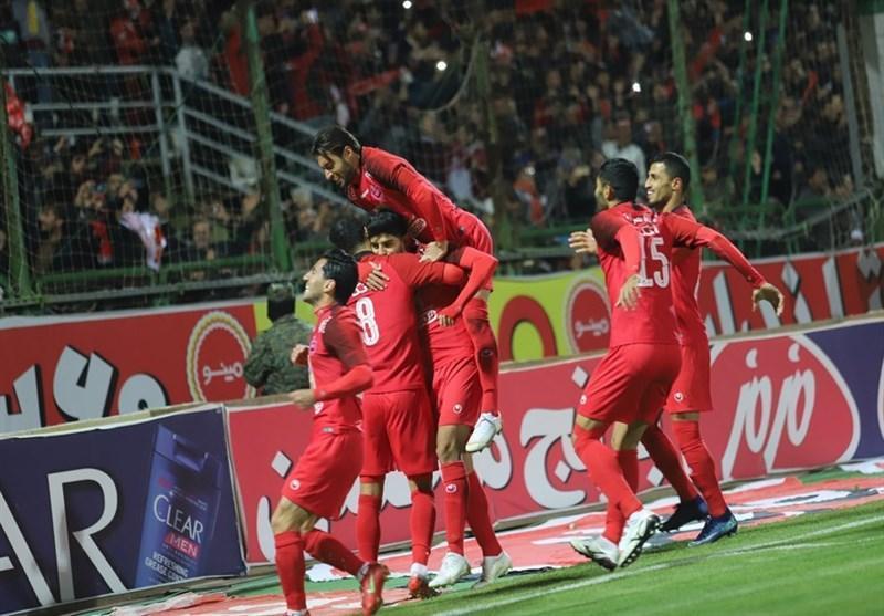 لیگ برتر فوتبال، رجحان یک نیمه ای پرسپولیس مقابل صنعت نفت آبادان