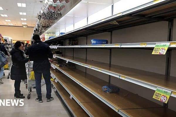 غارت فروشگاه های ایتالیا بعد از شیوع کرونا