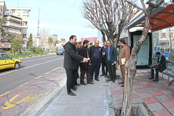 عملیات احداث راستا دوچرخه در کریمخان تکمیل شد ، بهسازی پیاده روهای تهران با بتن الیافی