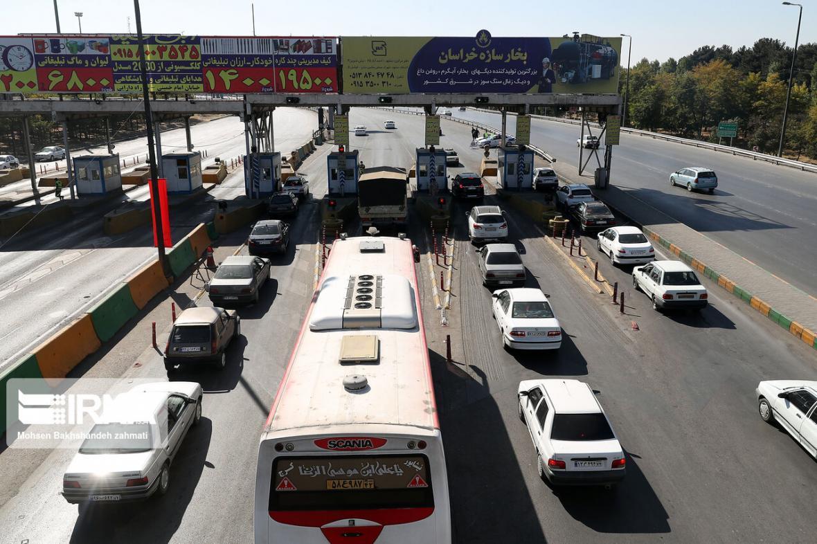 خبرنگاران ترافیک در خروجی های مشهد سنگین است