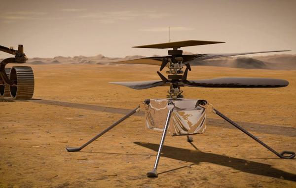 بالگرد نبوغ برای نخستین بار پره های خود را در مریخ حرکت داد