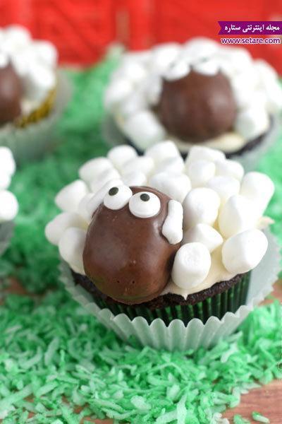 آموزش تزیین کاپ کیک عید قربان (کاپ کیک گوسفندی)