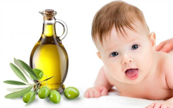 فواید روغن زیتون برای نوزادان