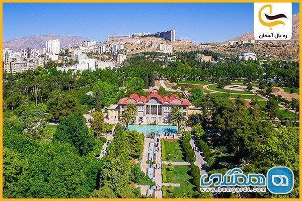 باغ ارم شیراز در بهار
