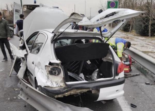 تصادف 8 خودرو در بزرگراه مدرس