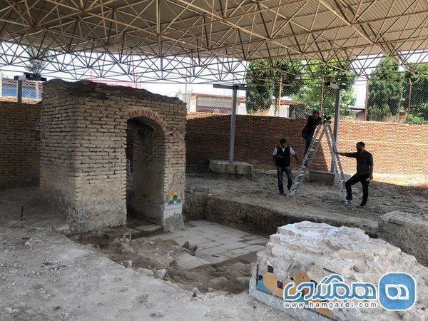 نخستین کاوش باستان شناسی حمام صفوی فرح آباد کلید خورد